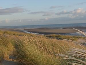 Camber sands kitesurfing beach