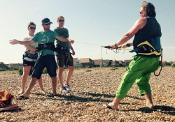 5 Day kitesurfing course - stance