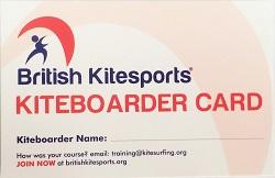 BKSA Kiteboarder Certificate