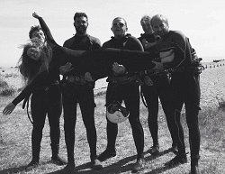 Into wetsuits