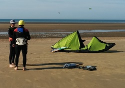 Kite set up