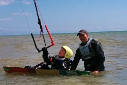 Private kitesurfing lesson
