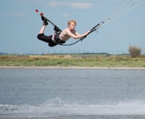 kitesurfing instructor tricks