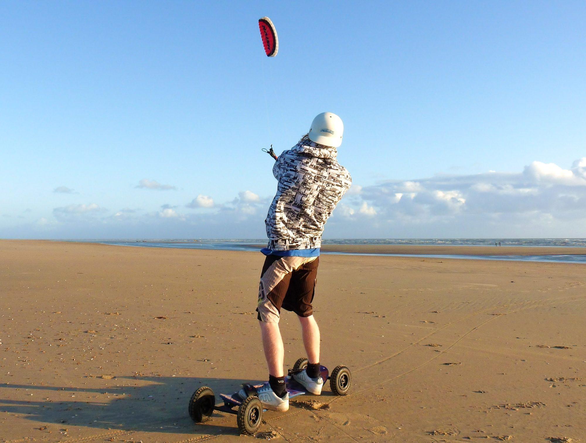 kite landboarding