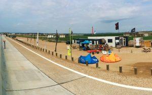 centre on the beach