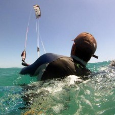 kitesurfing lesson first day body drag square