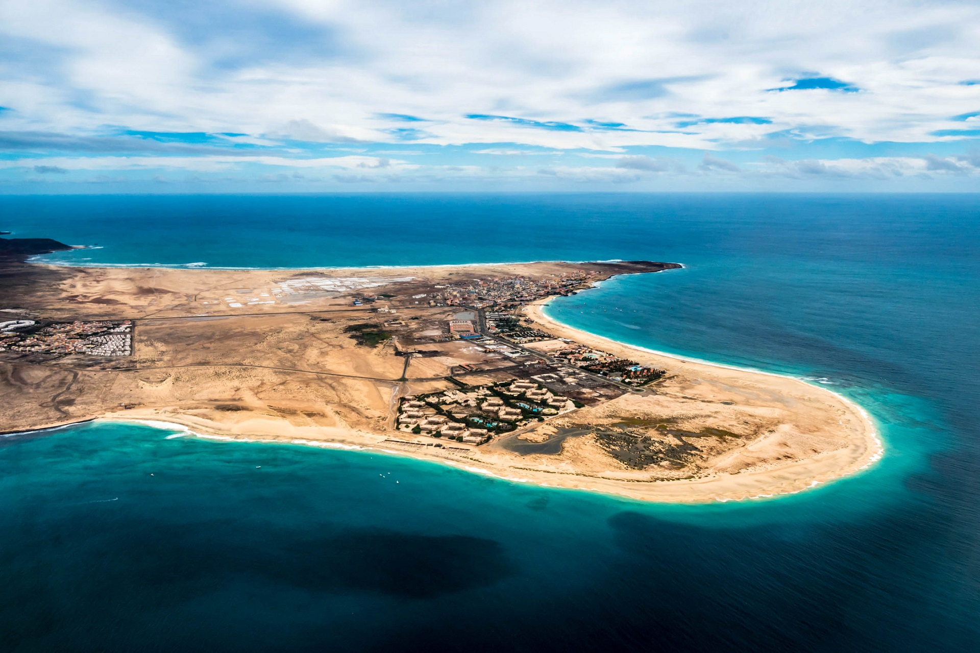 Aerial view of Santa Maria in Sal Island Cape Verde - Cabo Verde