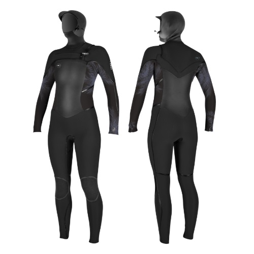 2019 O'Neill Psycho Tech 6/4 Womens Chest Zip Hooded Wetsuit