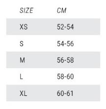 Mystic MK8 Size Chart