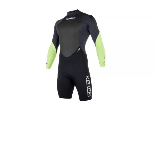 2019 Mystic Star Mens 3/2 long arm back-zip shorty Wetsuit