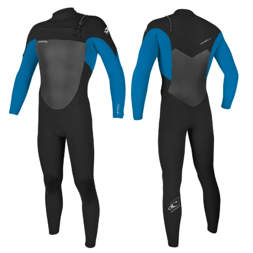 2020 O'Neill Epic 5/4 Chest Zip Black Bright Blue