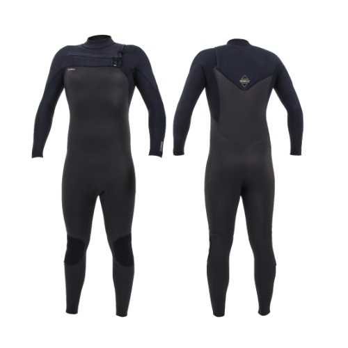 2020 O'Neill Hyperfreak 4/3 Chest Zip Raven Black