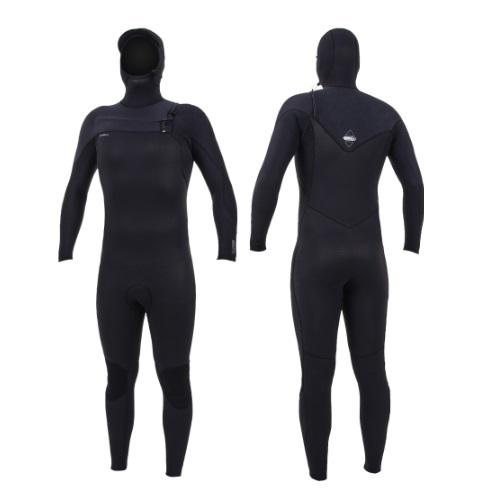 2020 O'Neill Hyperfreak 4/3 Chest Zip With Hood Black Black