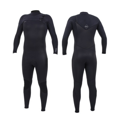 2020 O'Neill Hyperfreak 5/4 Chest Zip Black Black