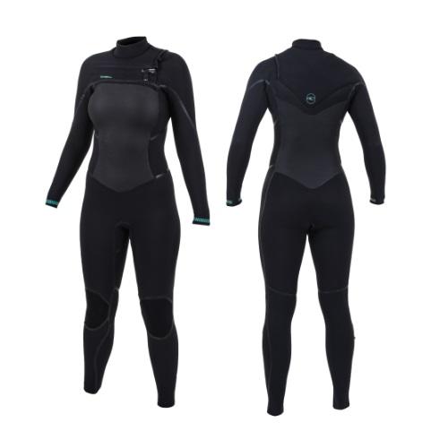 2020 O'Neill Psycho Tech 5/4 Chest Zip Womens Wetsuit Black Black