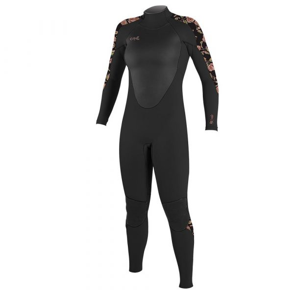 2021 O'neill 5/4mm Epic Wetsuit Womens Flowers