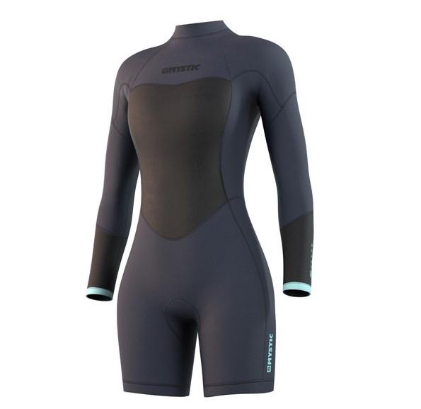 Mystic longarm shorty Brand Wetsuit Womens Blue