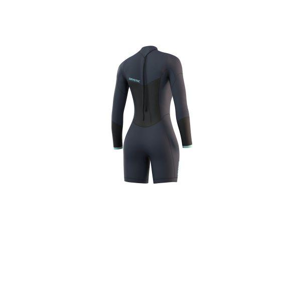 Mystic longarm shorty Brand Wetsuit Womens Blue Back